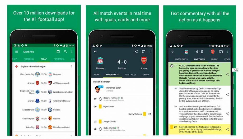 FotMob - Notícias de futebol e resultados 2 - Apps de resultados de futebol - Blog - Gadget Hub em Lisboa